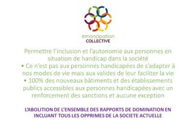 Permettre l'inclusion et l'autonomie aux personnes en situation de handicap dans la société