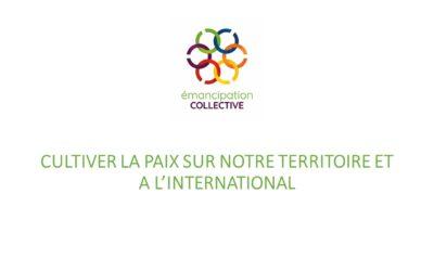 Boîte à idées: Cultiver la paix sur notre territoire comme à l'international